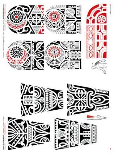 Polynesian and Maori Tattoo Flash Booklet, Tattoo Flash Sets, Tattooing Books, Tattoo Sketch Books