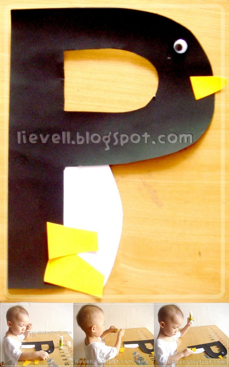 Letter P - Penguin Now to figure out how to make something out of every letter.