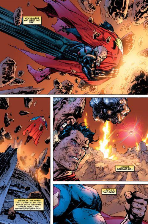 Superman vs General Zod in Superman: For tomorrow #12