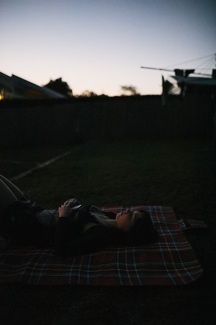 Katie relaxes into sunset - Australia day 2014Photo by Rob Mynard