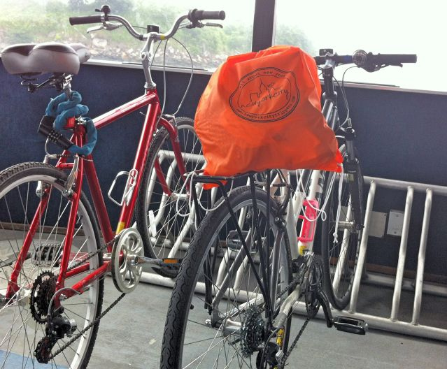 Our bikes on the East River Ferry