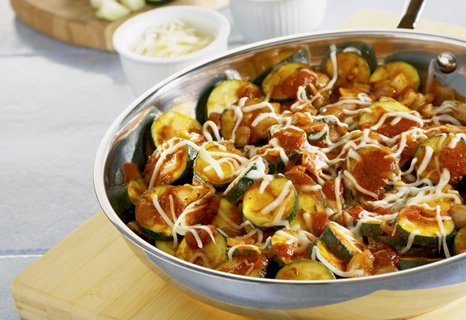 Campbell's Kitchen: Mozzarella Zucchini Skillet