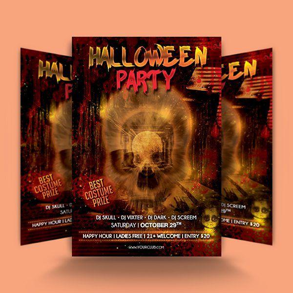Halloween Skull Flyer Template