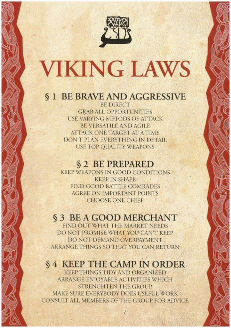 "Viking Laws...hmmm, Obama should read #3 ""Do not promise what you can't keep."""