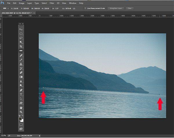 Der unkomplizierte Weg, um Ihren Horizont in Photoshop zu begradigen