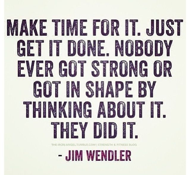 It's what you make time for