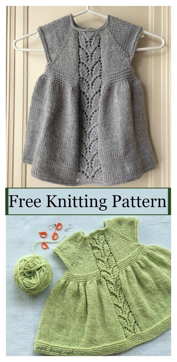 Leaf Love Dress Free Knitting Pattern - Little Girls Dress