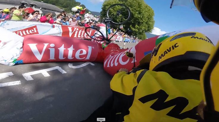 Tour de France 2016: Adam Yates crashes into collapsed inflatable arch