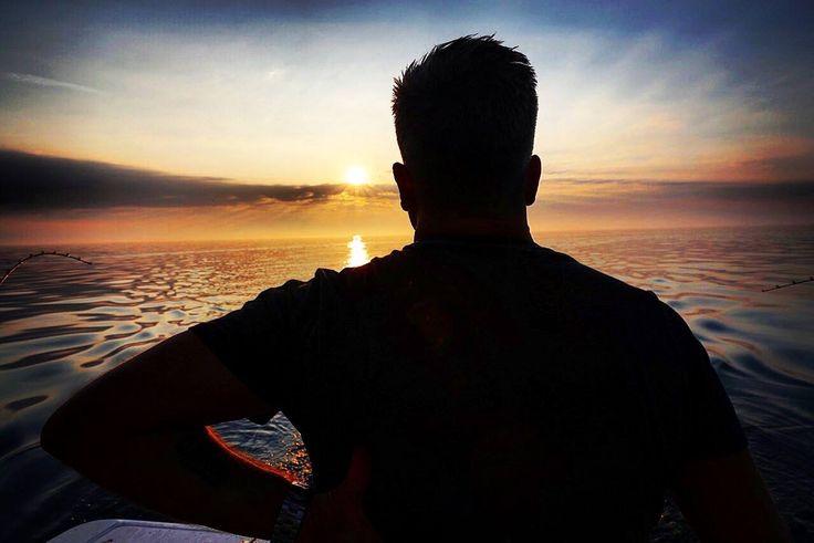 I'm at home here #lakeerie #easternsky #sunrise #fishing #stillwaters #cheflife