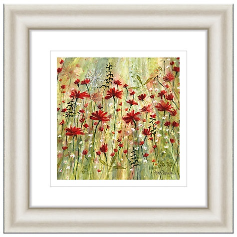 Buy Catherine Stephenson - Scarlet Burst 1 Framed Print, 50 x 50cm Online at johnlewis.com
