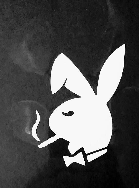 Weed marijuana pothead stoner smoking playboy bunny Custom decal sticker design for car or truck window or Yeti thermos mug or laptop in various colors and sizes  Here are (20) great ideas and uses for your new decal stickers:  1. Custom personalized Laptop decal 2. Apple iPod or iPhone case or back of phone... or an lg android too :) 3. Yeti coffee thermos mug tumbler 4. Car or truck window bumper or door decal sticker 5. mailbox custom decal design 6. Side of a filing cabinet 7. Custom…