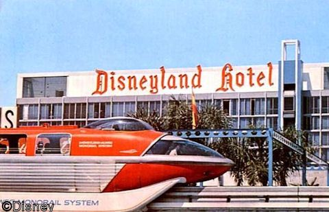 Disneyland was closed on Mondays and Tuesdays until the 1980's.  It was open everyday during the summer, Easter and Christmas.  Attendance did not demand everyday operation. Maintenance could refurbish out of sight of the guests.  However, the Disneyland Hotel, owned by the Jack Wrather Corporation, advertised that the monorail was open everyday. On Mon and Tues, guests could board the monorail at the hotel station and take a round-trip ride through Disneyland. It was the price of an E…