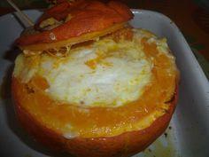 Potimarron farci au reblochon et aux lardons - Recette de cuisine Marmiton : une recette