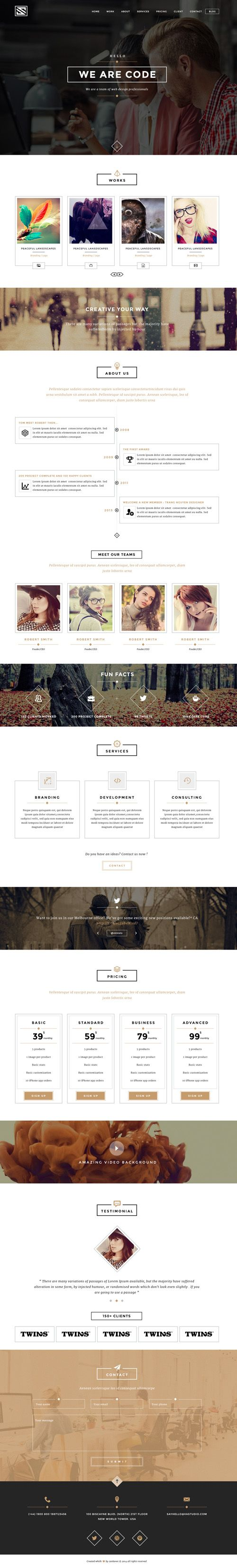 Vastudio - Creative One Page PSD Template #psdtemplates #onepagetemplates #businesstemplates #websitetemplates