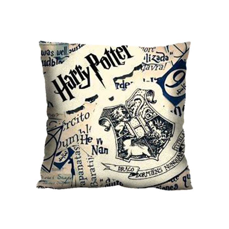 Harry Potter Pattern 18*18 Square Polyester Zippered DIY Decorative Pillow Case Cover(Twin Sides)