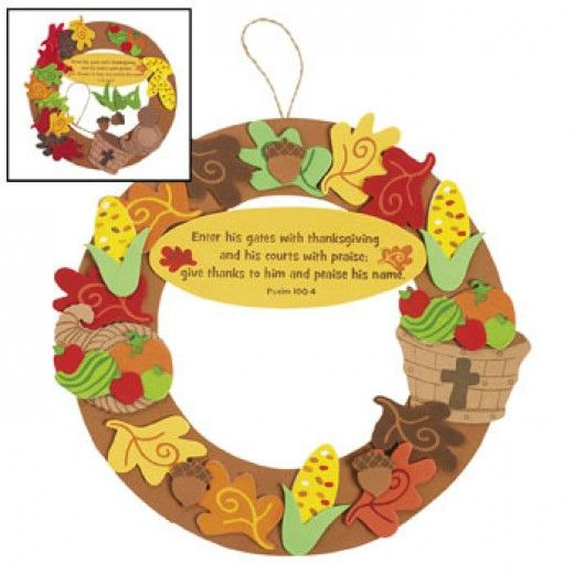 christian thanksgiving wreath craft idea for kids jr On christian sunday school crafts