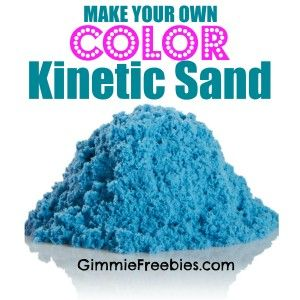 Make Your Own COLORED Kinetic Sand (10 lbs for 50 cents) using stuff you have at home! Easy and cheap!
