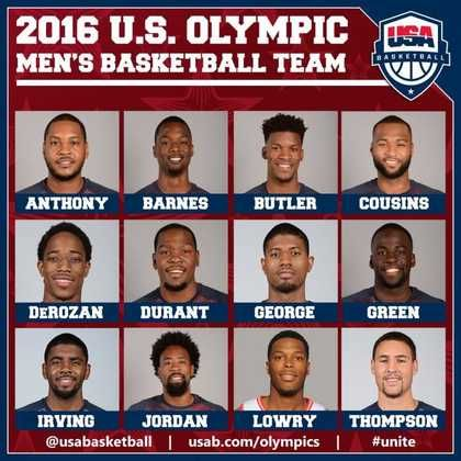 Team USA Has Revealed Their Revamped Men's Basketball Roster for The 2016 Rio Summer Olympics