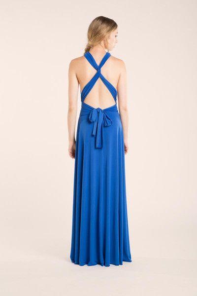 Vestido maxi azul eléctrico - moda para mujer - damas de honor - hecho a mano en DaWanda.es