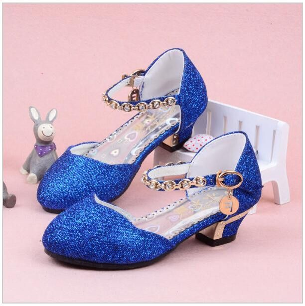 Enfants 2016 Children Princess Sandals Kids S Wedding Shoes High Heels Dress Party For Pink Blue Gold Jadalynn Jean In 2018