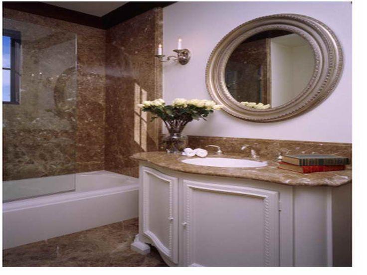 Small Bathroom Ideas Tile With Round Mirror Http Lanewstalk Com