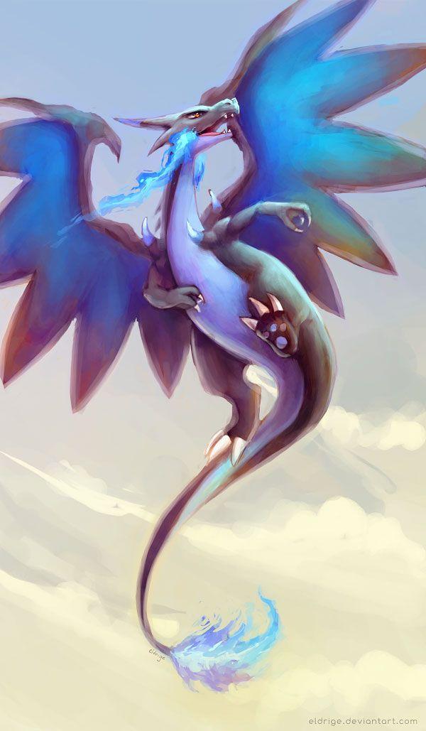 Mega Charizard X by eldrige.deviantart.com on @deviantART
