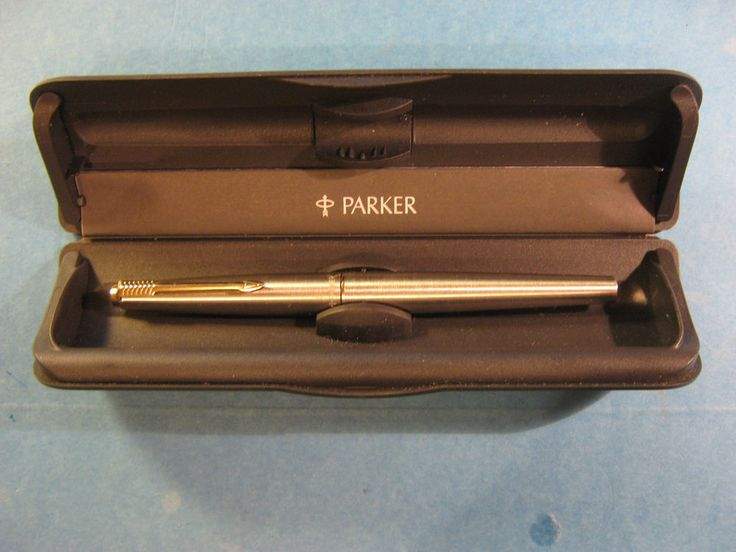 vintage Mint Parker 45 Flighter Fountain Pen 14K Nib Stainless w/ Ink Converter #Parker