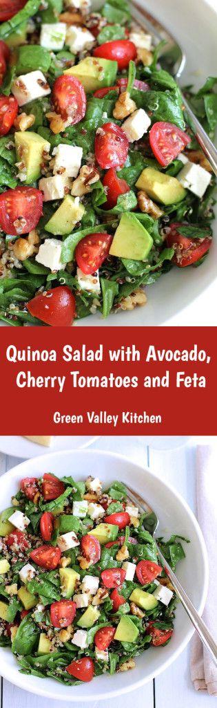Quinoa salad with avocado, cherry tomato and feta   Green Valley Kitchen