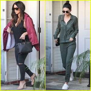 Kim Kardashian Spends the Day With Scott Disck and Kendall Jenner