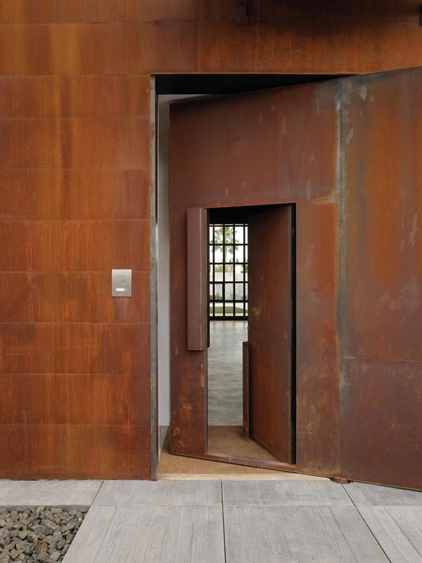 Amazing door within a door...The upper handle operates an oversize pivoting door.