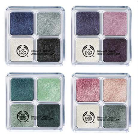 The Body Shop Shimmer Cube Palettes