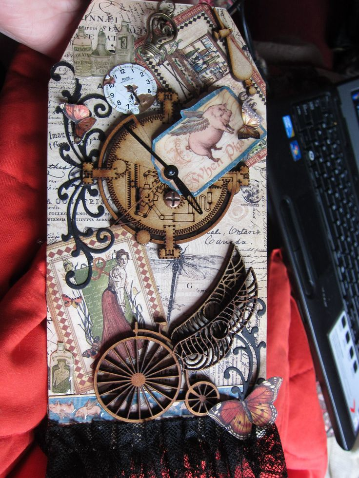 Steampunk Tag made by JuliAnn, using Graphic45 papers