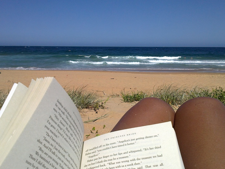'This photo is my actual favourite reading spot: an empty beach.'  -Carolina