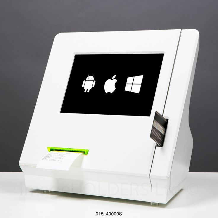 Countertop integrator tablet kiosk with card swipe chip