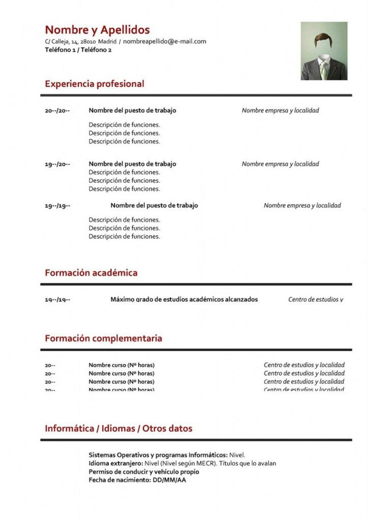 best 25  curriculum vitae en espa u00f1ol ideas on pinterest