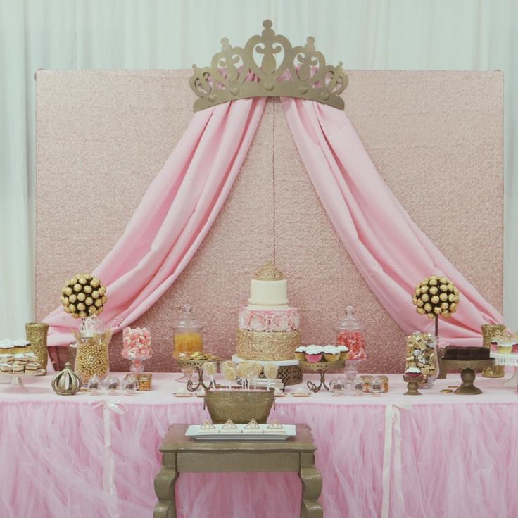 Princess Glam Baby Shower   Cake & Candy Bar @Delicious Cakes by Myrna Sparkle Events By Karla