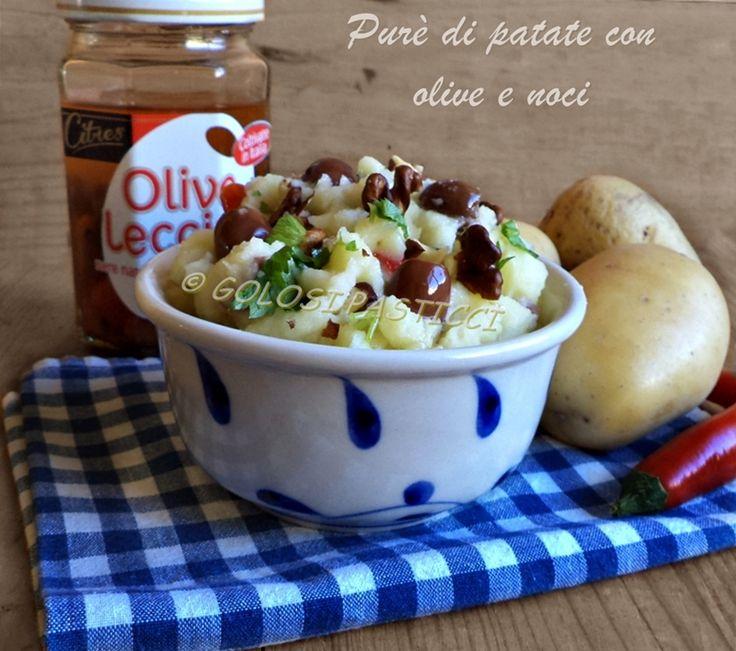 Purè+di+patate+con+olive+e+noci