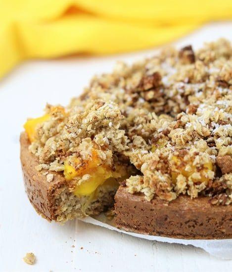 Mango, kruimeltaart, crumble, glutenvrij, oh my pie, lactosevrij, vegan, gezond, genieten, kidsproof, recept, zomer, havermout, kokos, ontbijttaartje