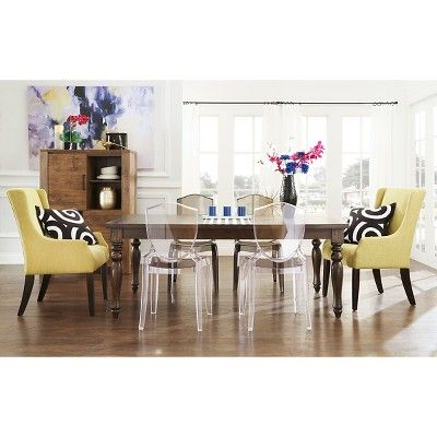 25 best ideas about ghost chairs dining on pinterest ghost chairs clear chairs and dinner room - Ghost chairs knock off ...
