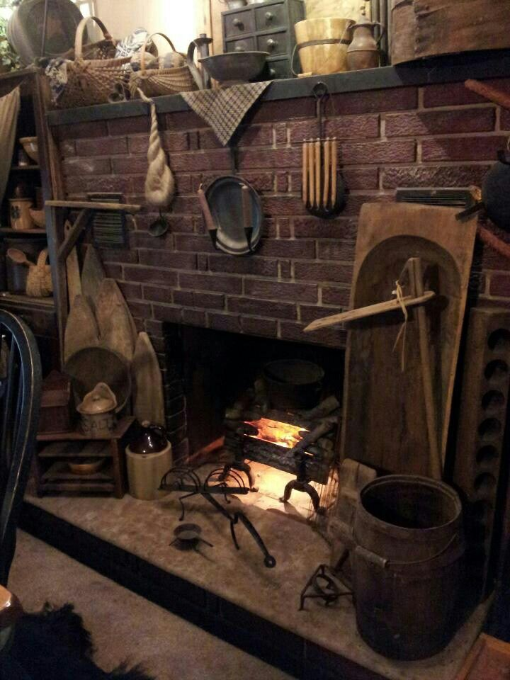 327 best Fireplaces images on Pinterest | Primitive fireplace ...