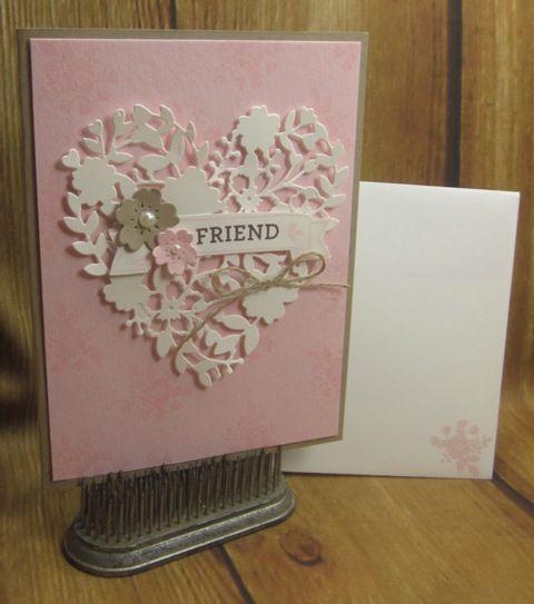 Stampin' Up! Bloomin' Love swap card. DIY handmade birthday cards, valentines