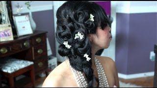 Romantic Wedding Side Ponytail Hair Tutorial - itsjudytime, via YouTube.