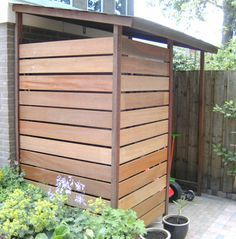 Perfect storage solution for outside, half height version would be good for wheelie bins