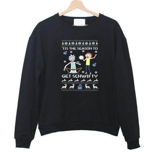 rick and morty christmas Unisex Sweatshirts