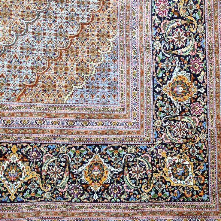 Mahi Tabriz 50 Raj Persian Rug ❤️ The timeless 'Herati Fish Design' is a hallmark of a traditonal Mahi Tabriz rug. This gem measures 4x3m, incorporates a high quality kork wool and is inlayed with silk. See our website for more details.  #mahi #tabriz #persianrugs #persian #rug #traditional #fishdesign #wool #silk #woolandsilk #collection #sydney #rozelle #rugs #interiorinspiration #interiorlovers #sydneystyle #sydneyinteriors #decor #handmade #madebyhand #design #carpet #gallery #art…