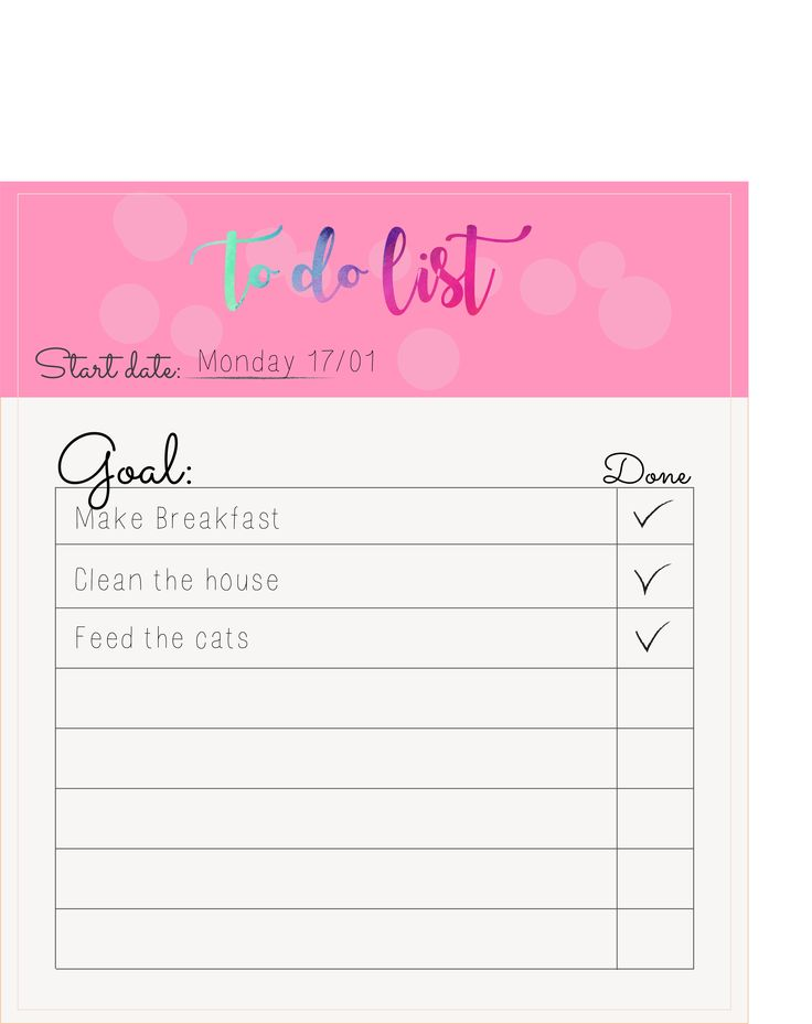 New 2017 item! Personal Agenda to do list
