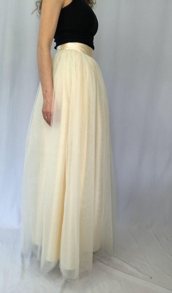 """Women Maxi Tulle Skirt /  Long Tutu Skirt / Princess Skirt / Wedding Skirt  – """"Choose to be me' / MD 100"""