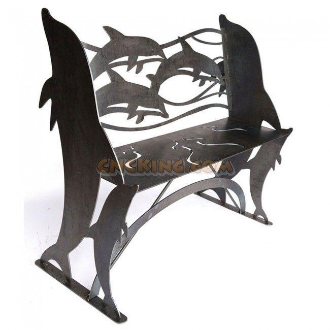 Dolphin Bench CNC Plasma Cut
