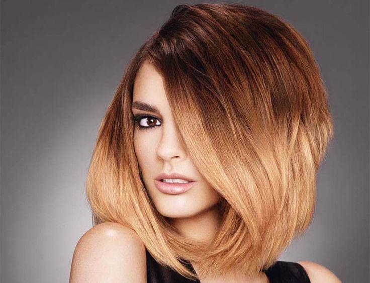 Стильное окрашивание волос омбре для каре - 0