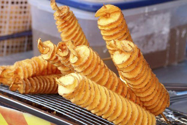 Batatas espiral